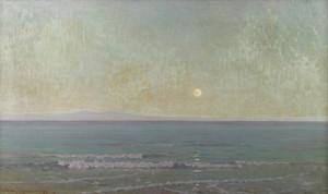 Art Prints of Quiet Moonlight Beyond Catalina Island by Granville Redmond