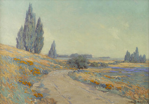 Art Prints of Road Through a Field of Wildflowers by Granville Redmond