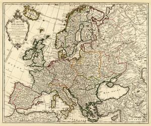 Art Prints of Carte d'Europe, 1724 (4764007) by Guillaume De Lisle