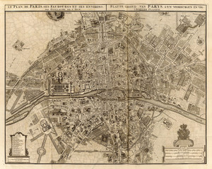Art Prints of Paris, 1742 (4638017) by Guillaume de Lisle and Covens et Mortier