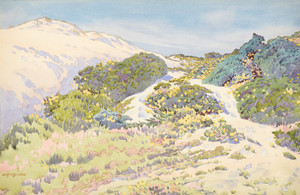 Art Prints of California Hills, 1918 by Gunnar Widforss