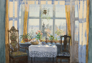 Art Prints of Interior Scene by Gunnar Widforss
