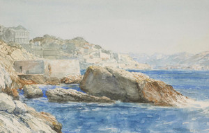 Art Prints of Coastal Scene, Marseilles, 1909 by Gunnar Widforss
