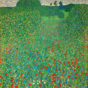 Art Prints of Field of Poppies by Gustav Klimt