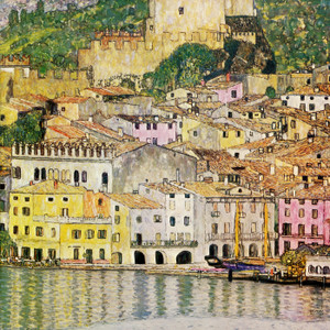 Art Prints of Malcesine on Lake Garda 1913 by Gustav Klimt