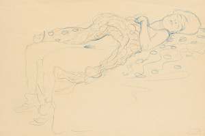Art Prints of Reclining Semi Nude by Gustav Klimt