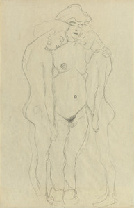 Art Prints of Three Standing Female Nudes by Gustav Klimt