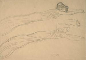 Art Prints of Sketch for the Beethoven Frieze by Gustav Klimt