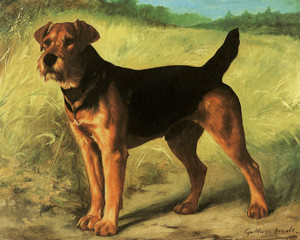 Art Prints of The New King, Staffordshire Bull Terrier by Gustav Muss-Arnolt
