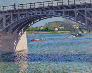 Art Prints of The Bridge at Argenteuil and the Siene by Gustave Caillebotte