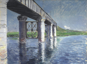 Art Prints of The Seine and the Railroad Bridge at Argenteuil by Gustave Caillebotte