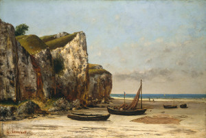 Art Prints of Beach in Normandy by Gustave Courbet