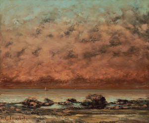 Art Prints of The Black Rocks of Trouville by Gustave Courbet