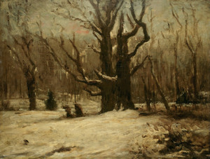 Art Prints of Winter Landscape by Gustave Courbet