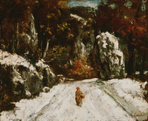 Art Prints of Winter in the Jura by Gustave Courbet