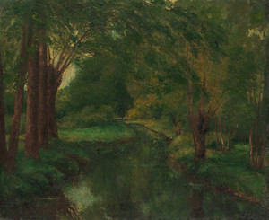 Art Prints of A Brook in a Clearing by Gustave Courbet