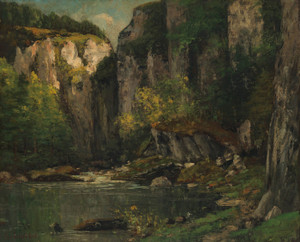 Art Prints of River and Rocks by Gustave Courbet