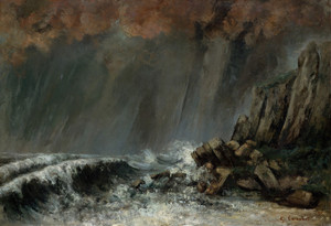 Art Prints of The Waterspout by Gustave Courbet