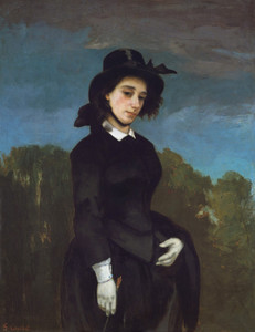 Art Prints of Woman in a Riding Habit by Gustave Courbet