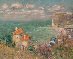Art Prints of Houses at the Foot of the Cliffs, Fecamp by Gustave Loiseau