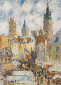 Art Prints of Market Day, Rouen by Gustave Loiseau