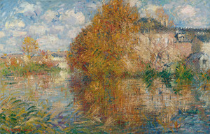 Art Prints of House on the Cau on the Banks of the Eure, Autumn by Gustave Loiseau