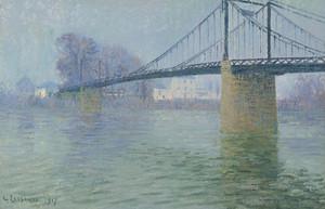 Art Prints of The Suspension Bridge at Triel by Gustave Loiseau