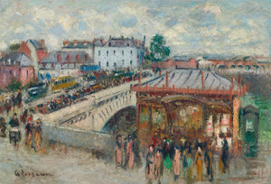 Art Prints of Tram Station, Crow bridge, Rouen by Gustave Loiseau