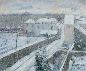 Art Prints of View of Triel in Snow by Gustave Loiseau
