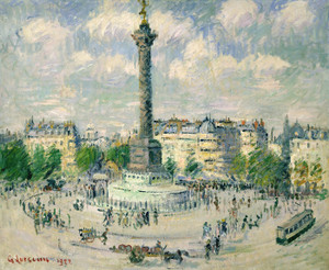 Art Prints of La Place de la Bastille by Gustave Loiseau