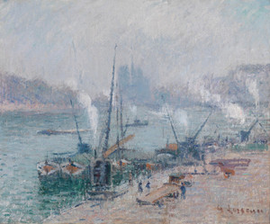 Art Prints of Paris, Le Port Henri IV by Gustave Loiseau