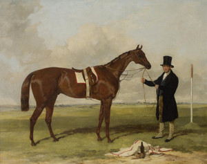 Art Prints of Cossack, Winner of the Derby 1847 by Harry Hall