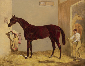 Art Prints of Joe Miller with Groom by Harry Hall