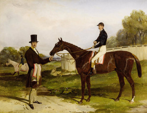 Art Prints of Mr. John Bowes with Frank Butler Up by Harry Hall