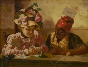 Art Prints of Dictating a Letter by Harry Roseland