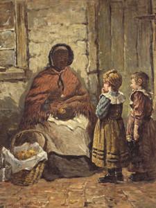 Art Prints of The Orange Seller by Harry Roseland