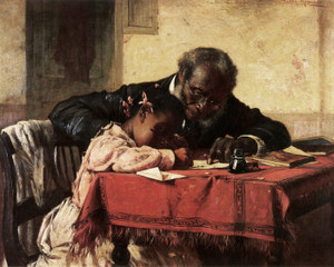 Art Prints of The Writing Lesson by Harry Roseland
