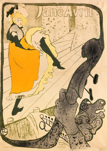 Art Prints of Jane Avril No. 2 by Henri de Toulouse-Lautrec