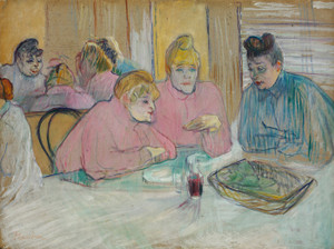 Art Prints of Ladies in the Dining Room by Henri de Toulouse-Lautrec