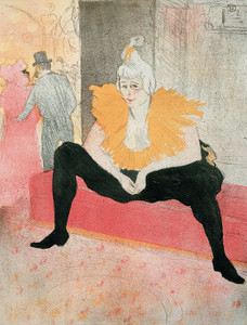 Art Prints of La Clownesse Assise by Henri de Toulouse-Lautrec