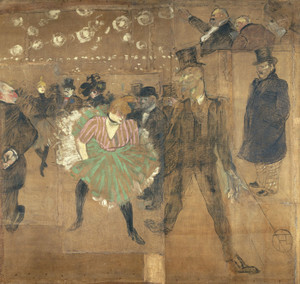 Art Prints of Panel for the Barrack of the Goulue by Henri de Toulouse-Lautrec