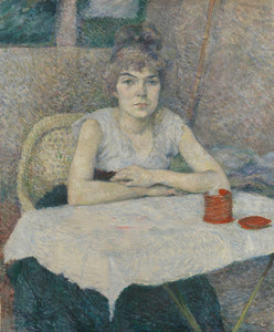 Art Prints of Young Woman at a Table Poudre De Riz by Henri de Toulouse-Lautrec