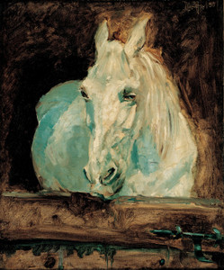 Art Prints of The White Horse Gazelle 1881 by Henri de Toulouse-Lautrec