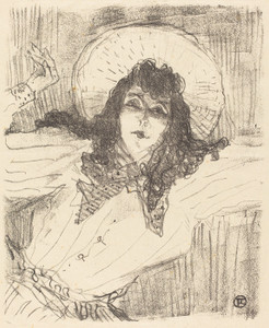 Art Prints of Eva Lavalliere, 1896 by Henri de Toulouse-Lautrec