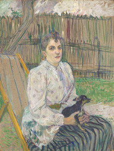 Art Prints of Lady with a Dog, 1891 by Henri de Toulouse-Lautrec