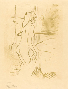 Art Prints of Study of a Woman, 1893 by Henri de Toulouse-Lautrec