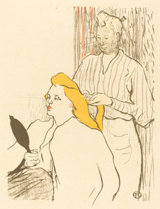 Art Prints of The Hairdresser, Theatre Libre by Henri de Toulouse-Lautrec
