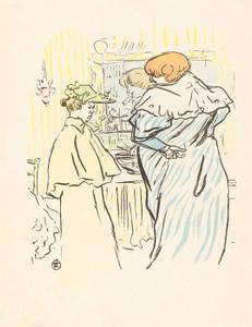 Art Prints of Two Women before a Mirror by Henri de Toulouse-Lautrec