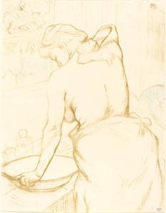 Art Prints of Woman Washing Herself by Henri de Toulouse-Lautrec