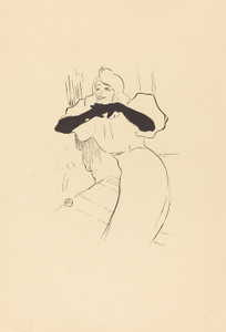 Art Prints of Yvette Guilbert, Linger Longer Loo by Henri de Toulouse-Lautrec
